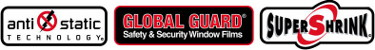 Antistatic technology, Global Guard safety & security window films, Supershrink